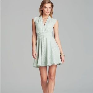 french connection mint dot dress